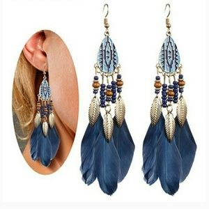 NEW  Blue Hue  Dream Catcher Earrings